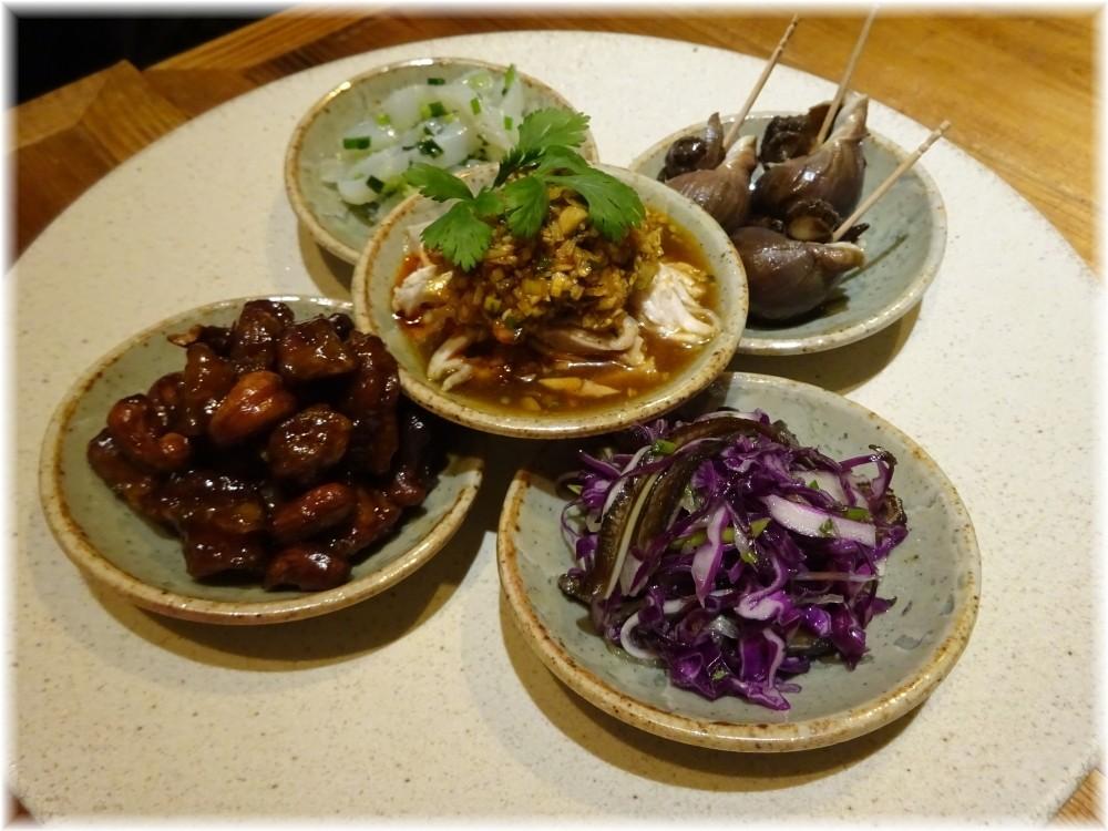 遊猿 前菜5種