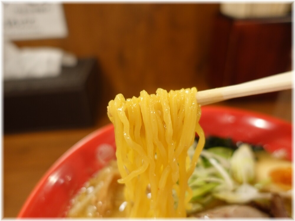 らーめんてつや東京高円寺店 味玉味噌ラーメンの麺