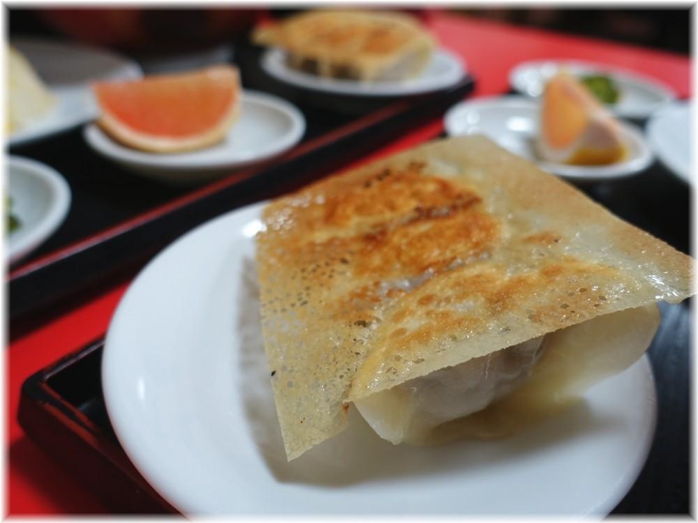 中国家庭料理大連 セットの羽根付き餃子
