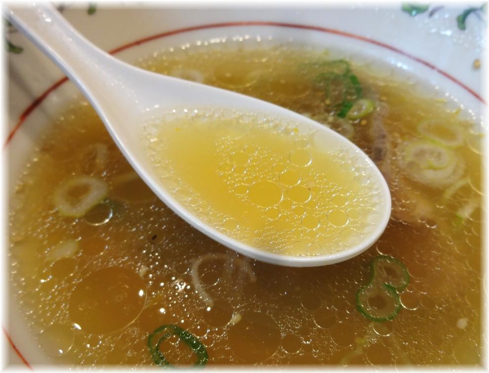 王将桜木町店 牛骨塩ラーメンのスープ