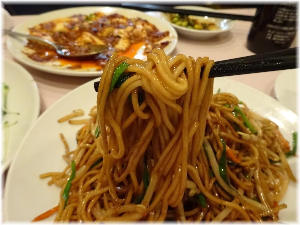 鴻運新店 上海風焼きそばの麺