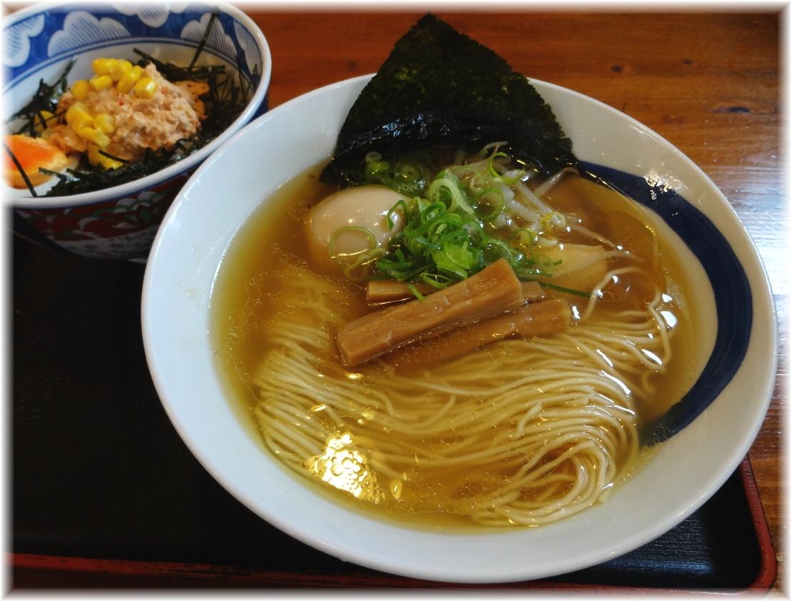 麺や食堂2 淡麗しお+とりマヨ丼