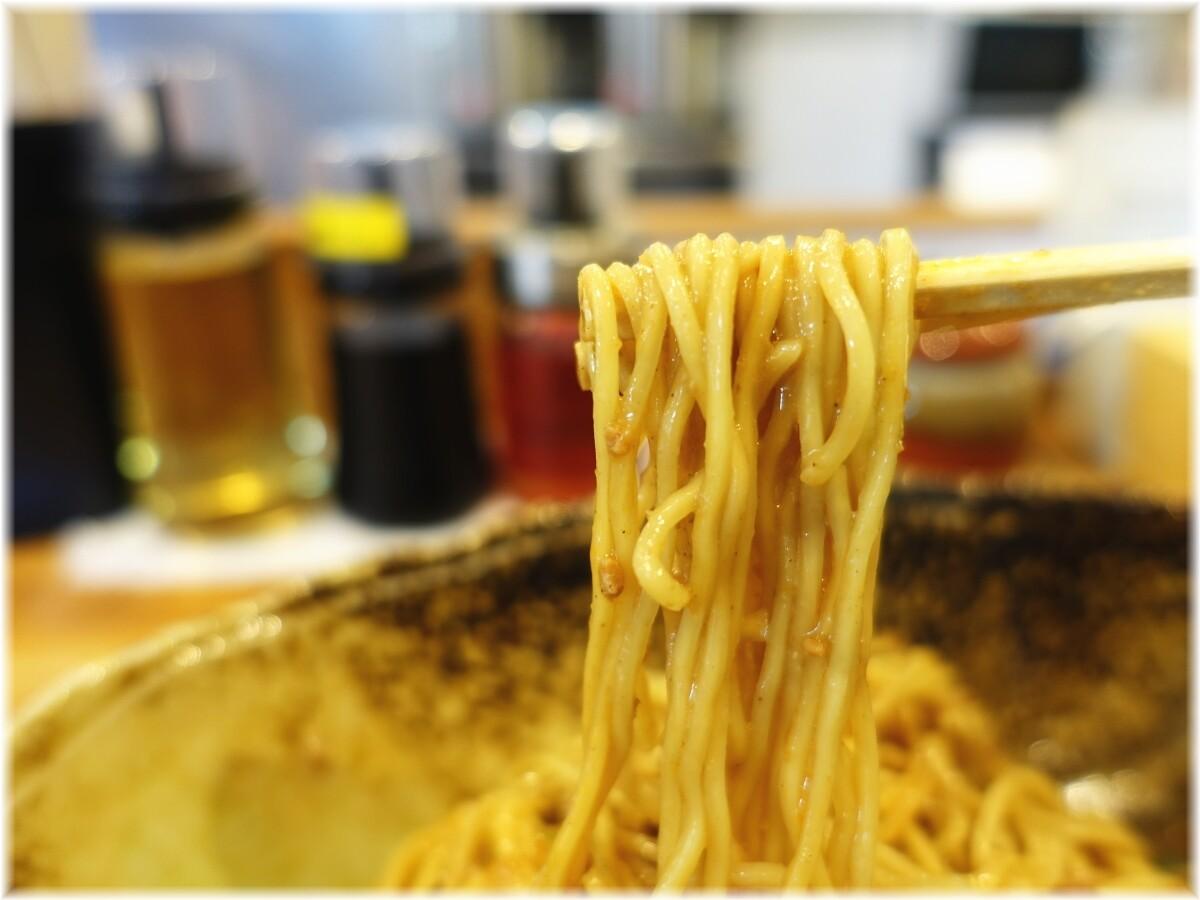 くにまつ 汁なし担担麺元味の麺