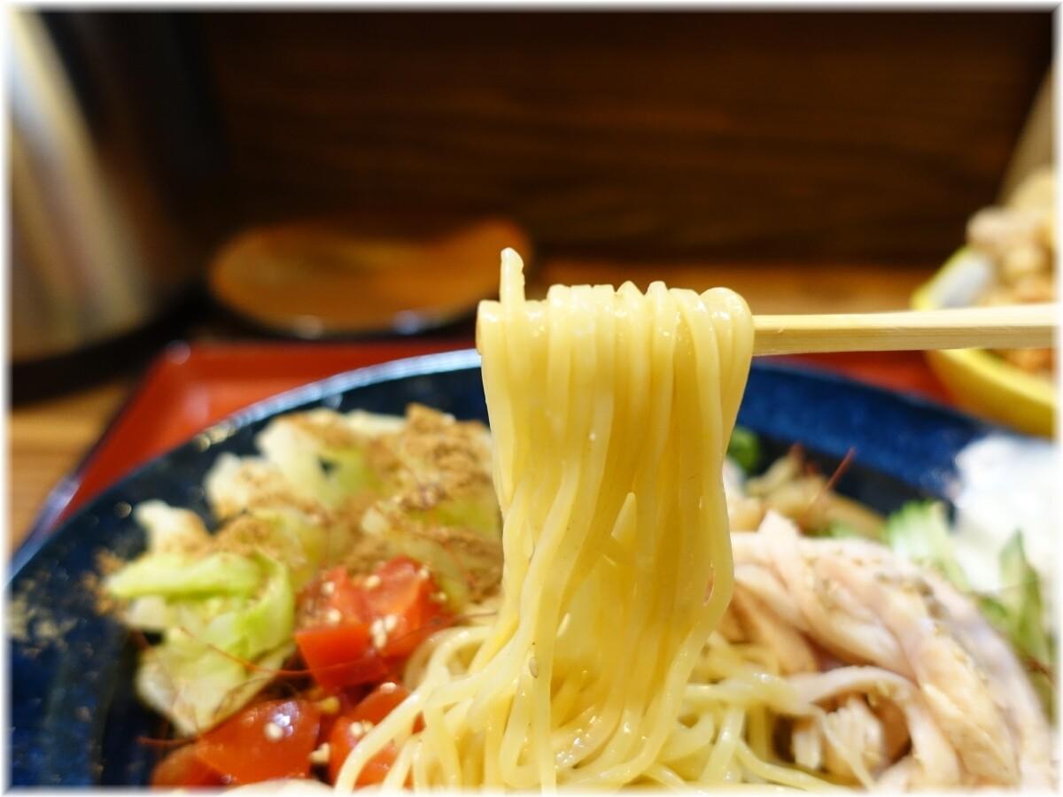 門仲山田 冷やし中華(スパイス)の麺
