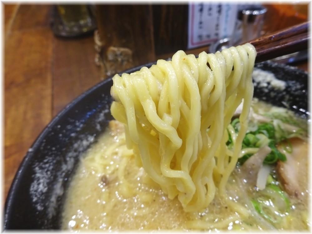 北の大地三田店 チーズときのこの味噌ラーメンの麺
