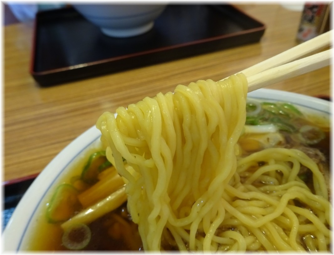 大石家飯田店 並盛りの麺