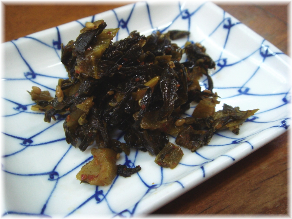 トキハラーメン 辛子高菜