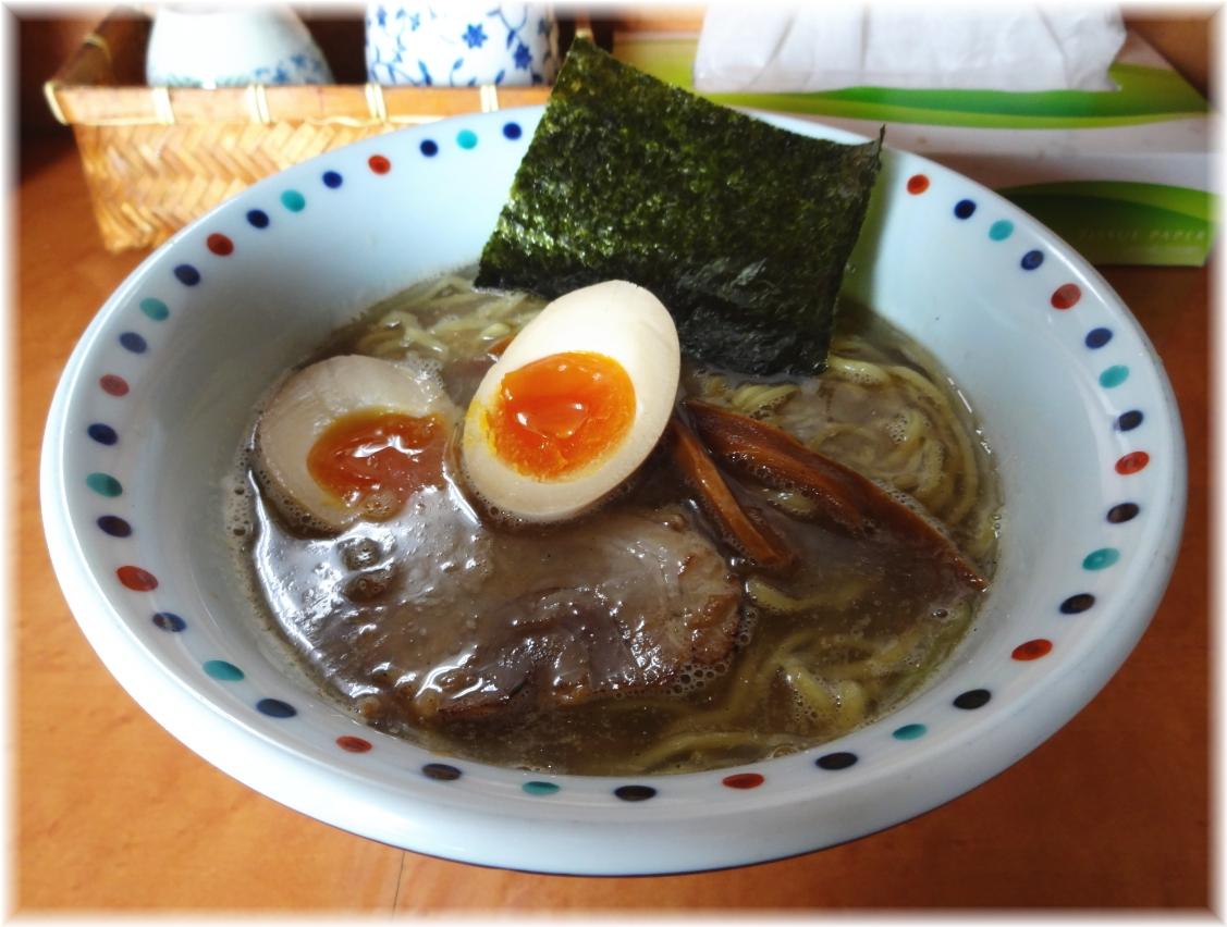 麺一真 ラーメン+味玉