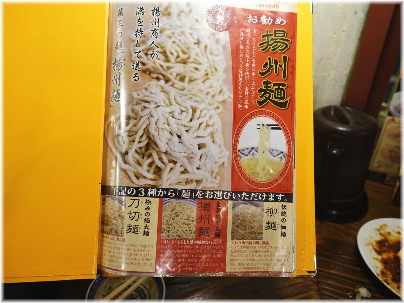 揚州商人新橋店2 麺の種類