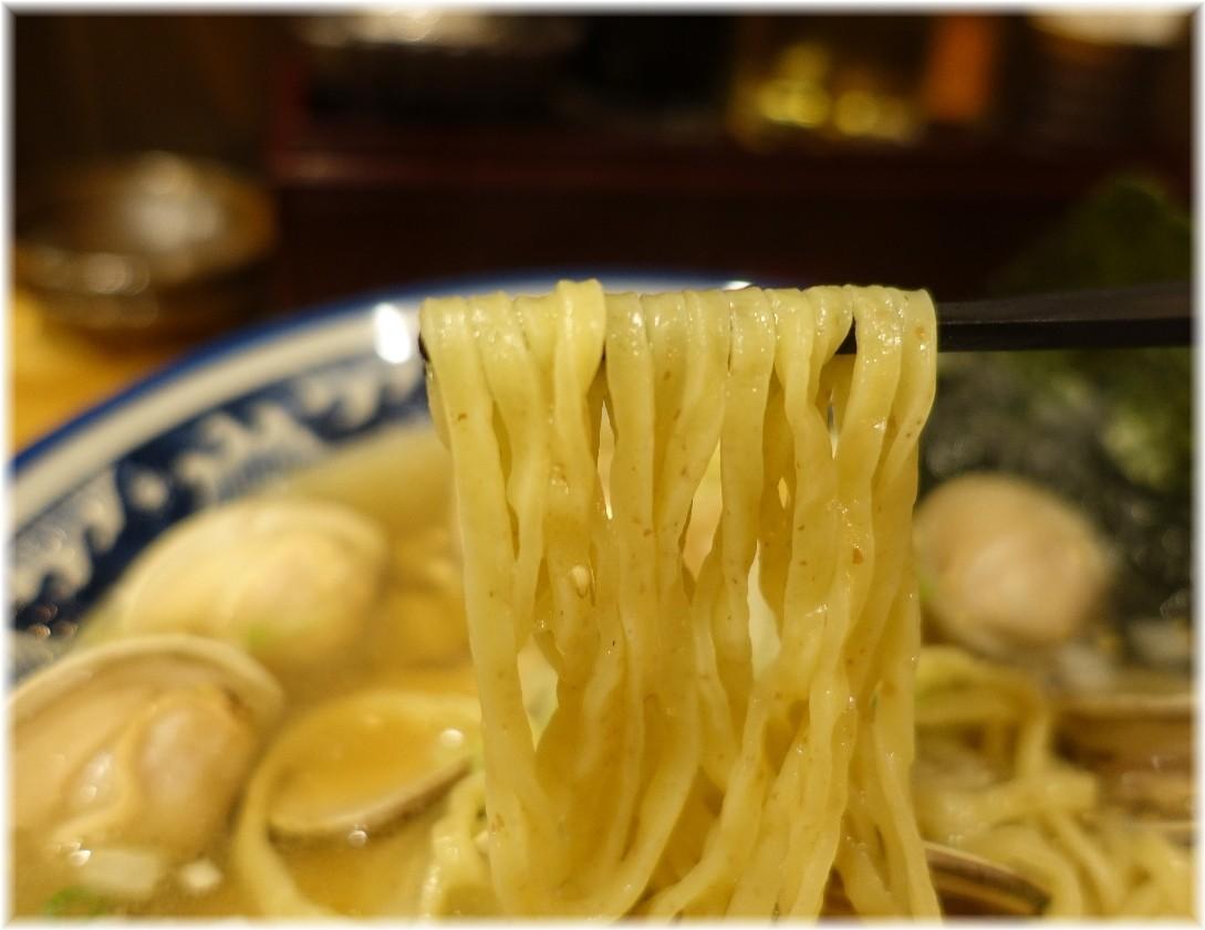 四代目ひのでや大宮店 はまぐりラーメンの麺