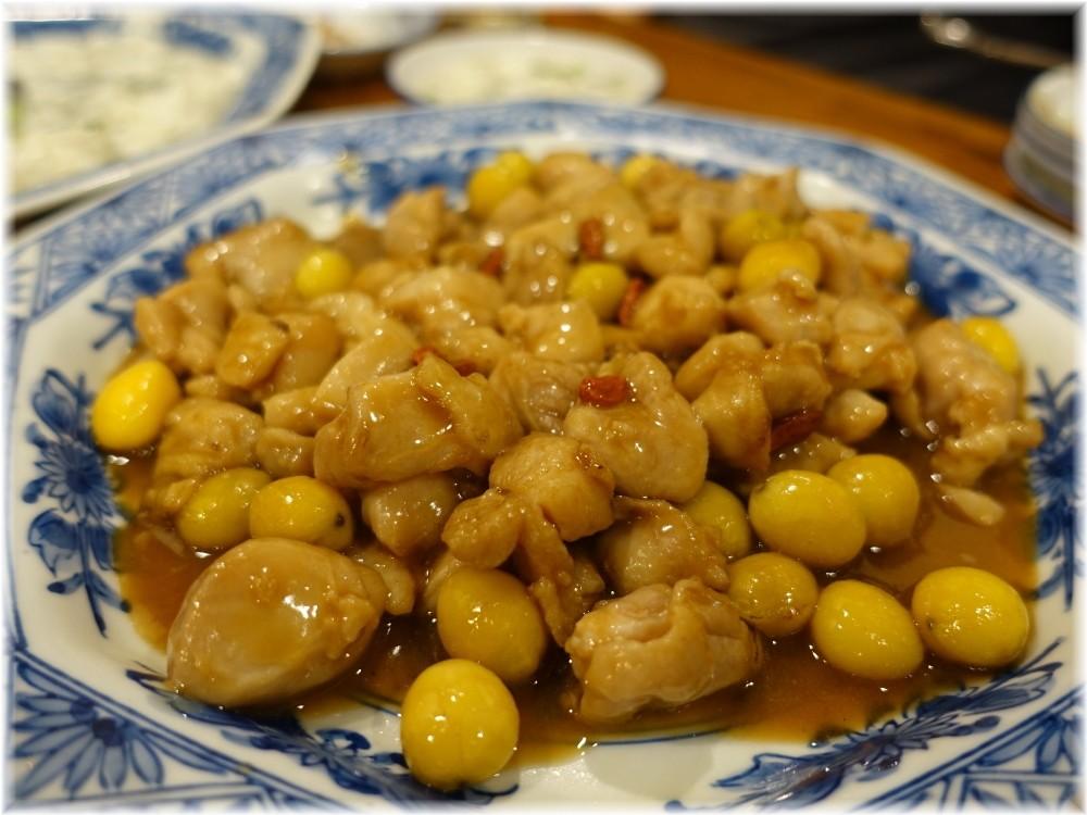 中華料理帆 鶏と銀杏の炒め