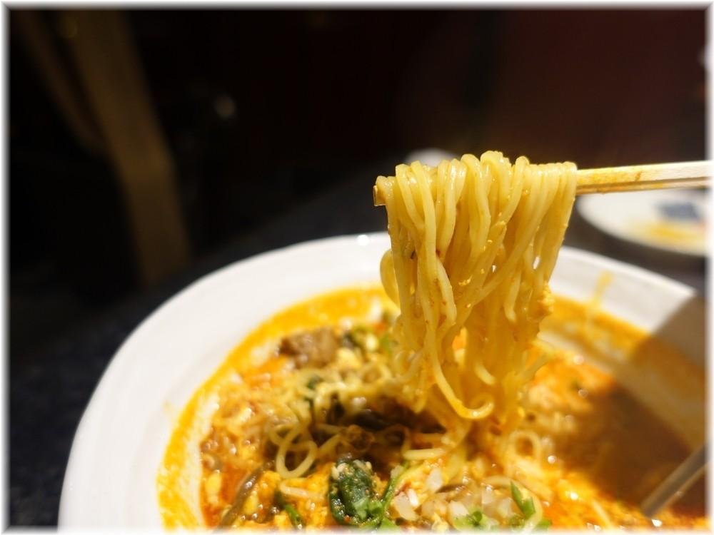晩翠2 牛骨ラーメン(辛)の麺