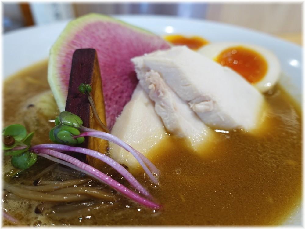 銀座篝アトレ浦和店 鶏白湯みそSOBAに味玉の具