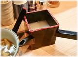 桃の木 蕎麦湯割り
