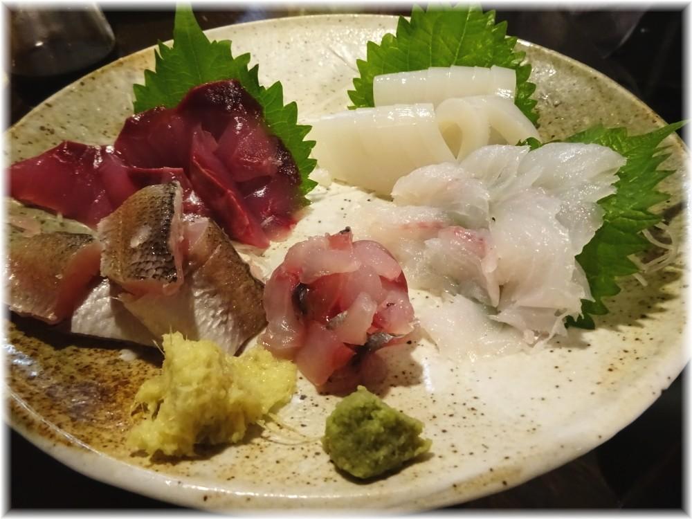 金町製麺7 お刺身の盛り合わせ