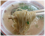 呑龍 長浜ラーメンの麺