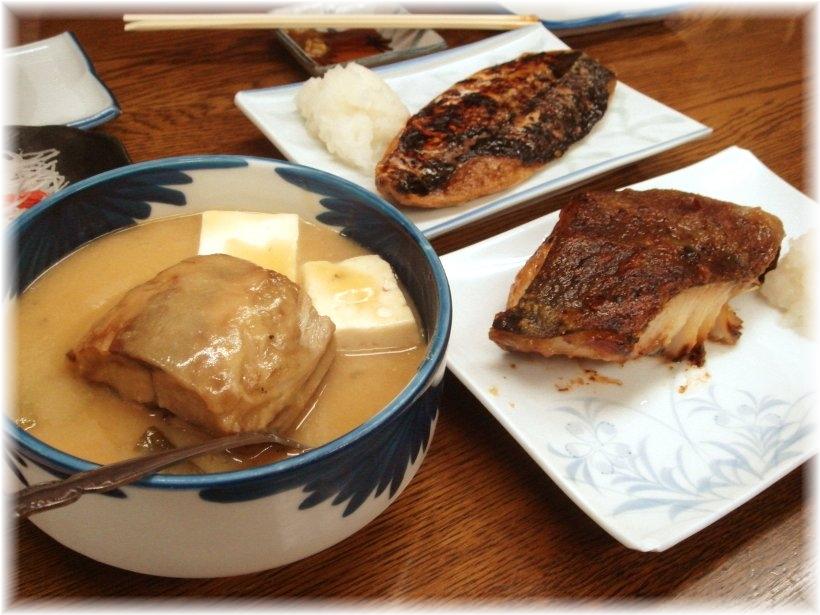 魚力 鯖の味噌煮、銀だら、鯖の塩焼き