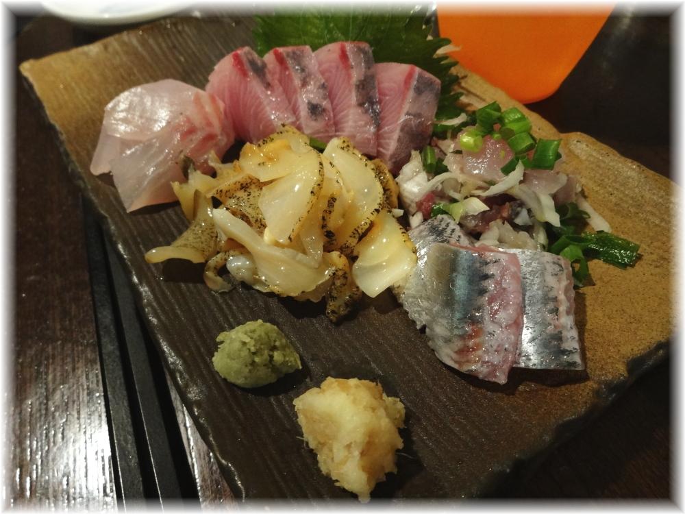 金町製麺4 刺身盛り合わせ