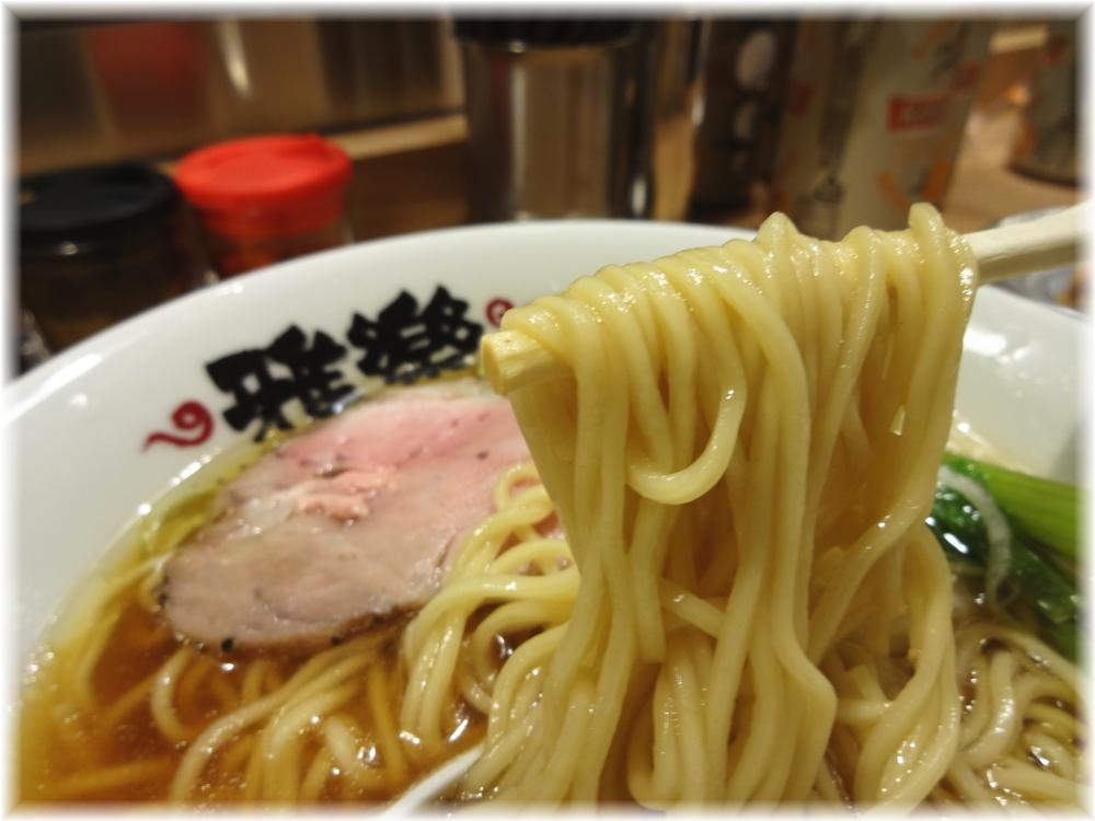 雅楽 生揚げ醤油らーめんの麺