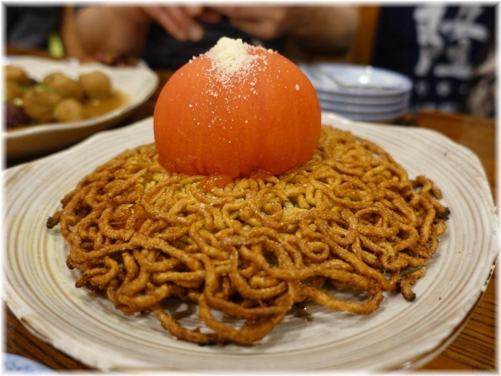 中華料理帆 海老とトマトの両面焼きそば