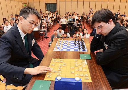羽生善治伝説、チェス対決写真