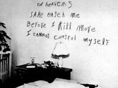ウィリアム・ハイレンズの現場写真、壁の文字