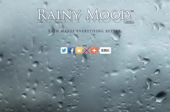 ただひたすら雨の音が流れるサイト