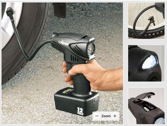 自転車の 自転車 空気入れ 電動 携帯 : AirPro Cordless Air Compressor 充電式 ...