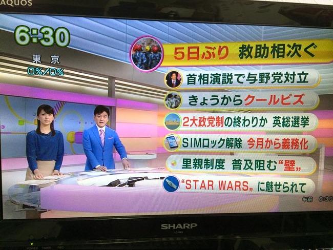 NHK朝ニュース0501