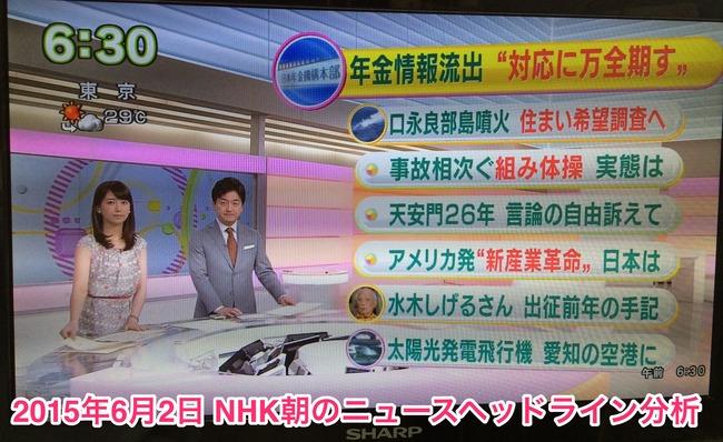 NHK朝ニュース2015年6月2日