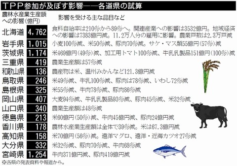 TPP損害額県別資産
