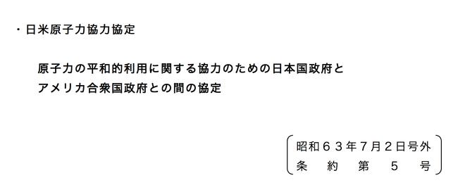 日米原子力協定前文プルサーマル