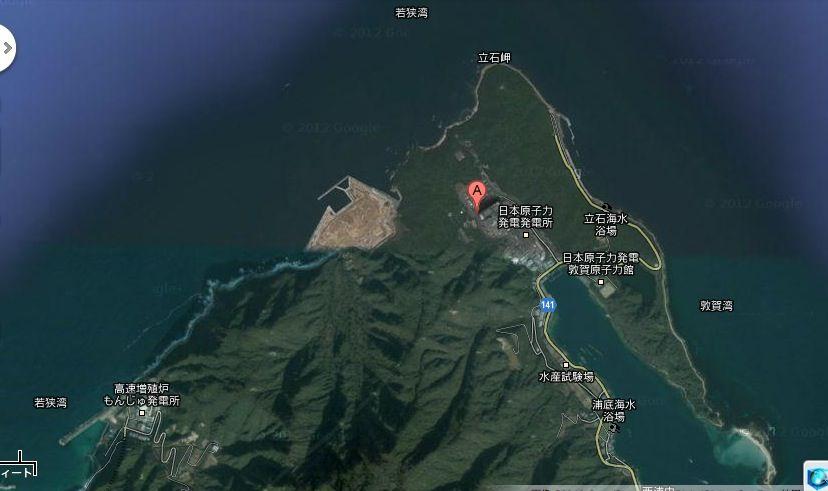 敦賀原発の危うさをビジュアルで理解 広大な埋立地に原子炉2基 ...