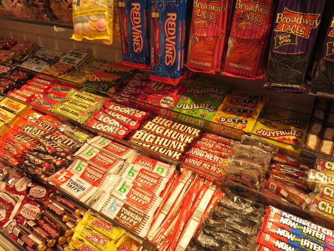 アメリカの駄菓子たち種類が多い