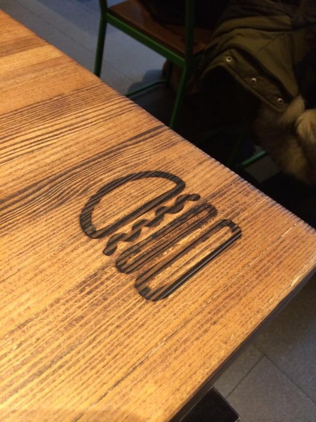 アメリカシェイクシャックのテーブルのマーク