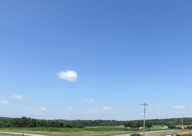 アメリカの田舎の空