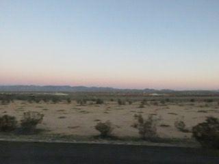 夕日と地平線