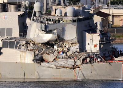 【衝突事故】イージス艦内で数人の遺体発見 浸水した居住区から
