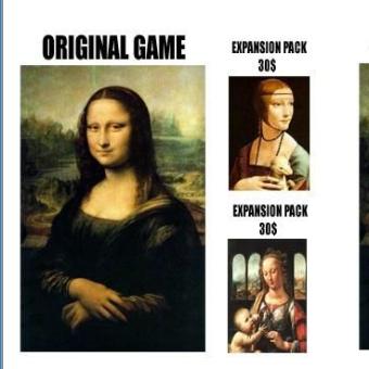 【画像】ゲーム課金形態をモナリザ画像で例えた有名なアレの最新版wwwwwwwwwww