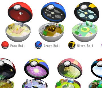 【画像】外人が作ったポケモンのボールの中身のイラストが凄いんだがwwwwwwwwwwww