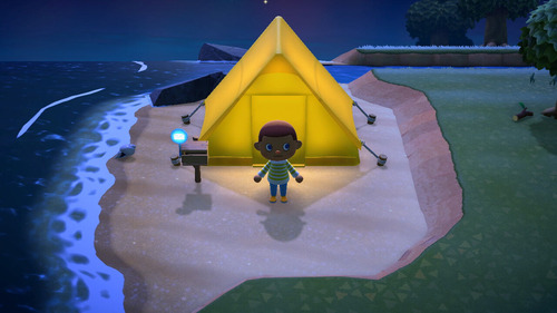 【ぶつ森】ワイ、これ以上ない場所にテントを建ててしまうw