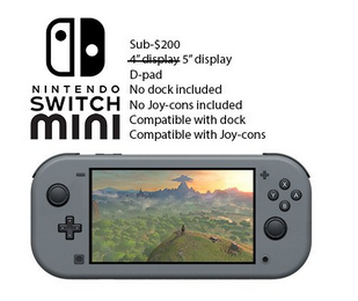 【速報】日経「任天堂、2019年度中に小型化Switch投入へ 」