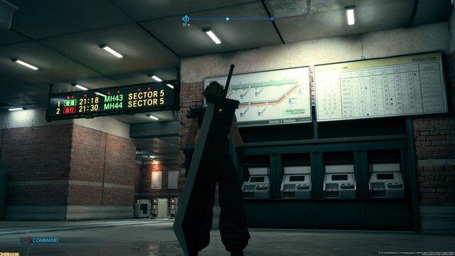 【超画像】「FF7リメイク」の駅の作り込みが半端ない!細かい路線図や時刻表までリアルに作り込み