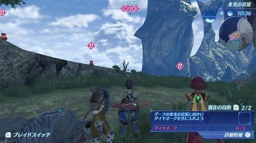 【ゼノブレイド2攻略】「来光の岩屋」ダイヤオークって、どこ?←目的地マーカーの罠に注意