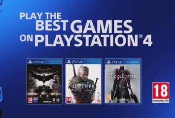 PS4は海外でも大人気、販売促進CM公開!「バットマン」「ウィッチャー3」「ブラッドボーン」推しの構成に!