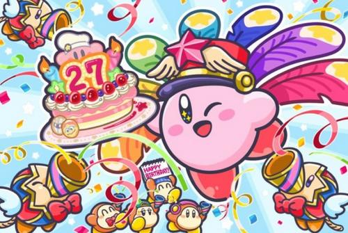 【祝】本日4/27は‥カービィ、お誕生日おめでとう!愛され続けて27周年、お祝いツイートも続々