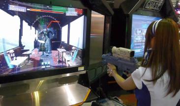 画面に向けて銃撃つゲームで遊びたいんだが