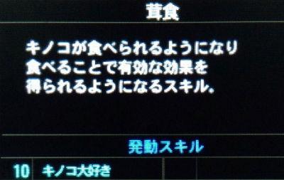 3DS「モンスターハンター4G」 G3まで来たが意外とキノコ大好き発動させてるヤツいないな