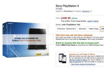 「PS4」と「PS Vita」本体をセットにしたバンドル版 「PS4 with PlayStation Vita Edition」が海外Amazonに掲載されるもすぐに削除された模様