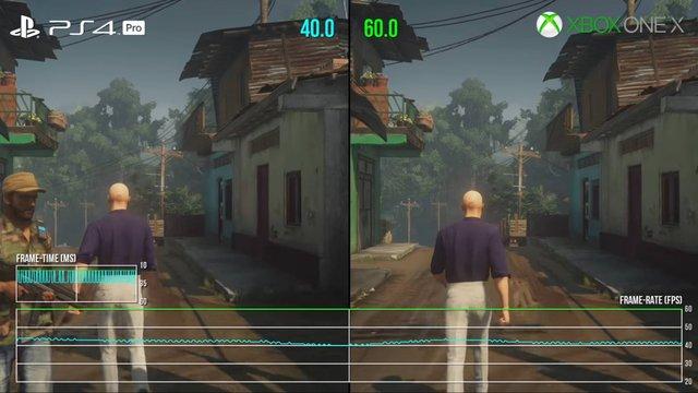 【比較】ヒットマン2、Xbox One Xは4K30fps/1440p60fps、PS4 Proは1440p30fpsで動作